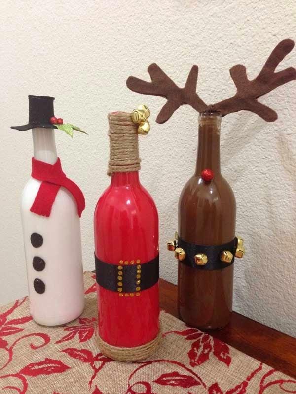 Dekoracje z pustych butelek po winie