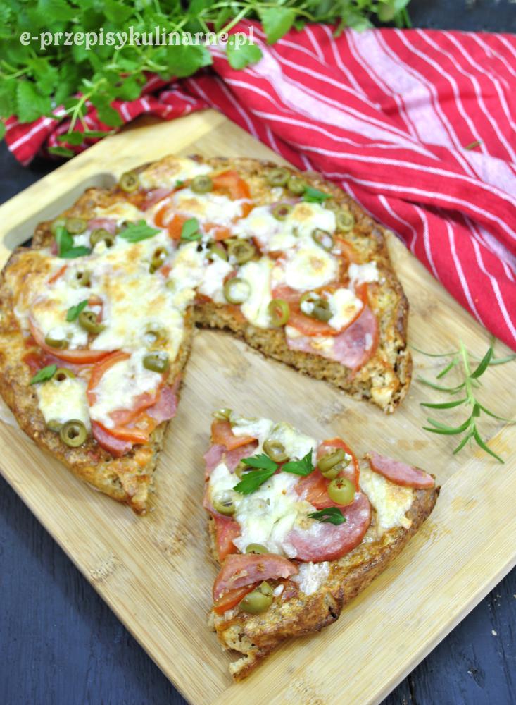 Dietetyczna pizza na otrębowym spodzie