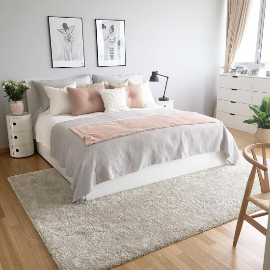 Gray Wallpaper Bedroom Tumblr Bedroom Ideas Quotes Bedroom Door Hard To Close Bedroom Painting Colours Combinations: Pastelowa Sypialnia: TOP 15 Inspiracji Na Sypialnię W