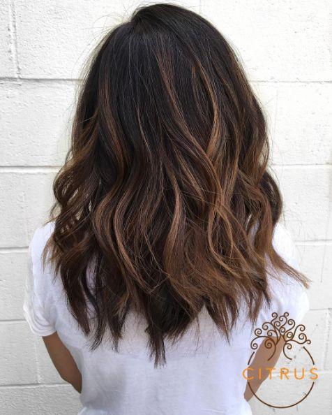Ombre Hair Brown To Caramel Medium Hair