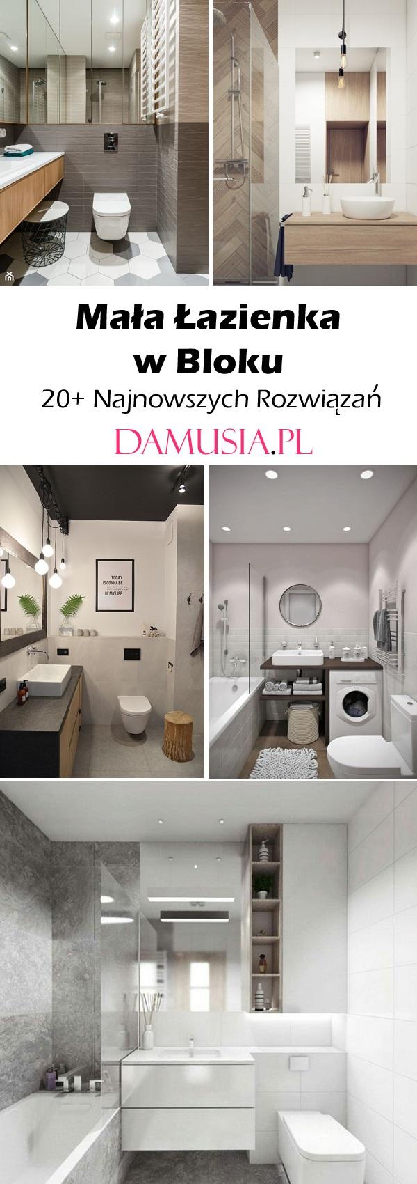 Mała łazienka Inspiracje Damusiapl
