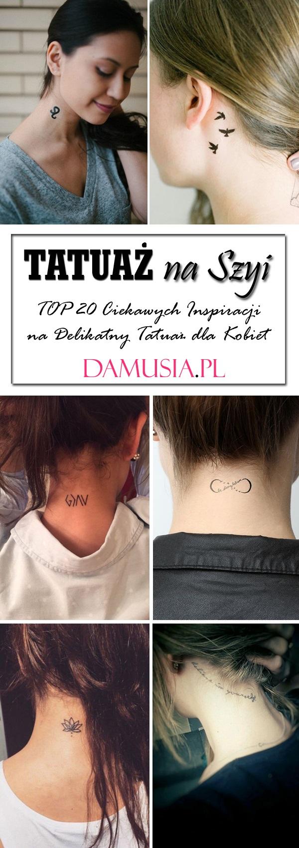 Tatuaż Na Szyi Top 20 Ciekawych Inspiracji Na Delikatny