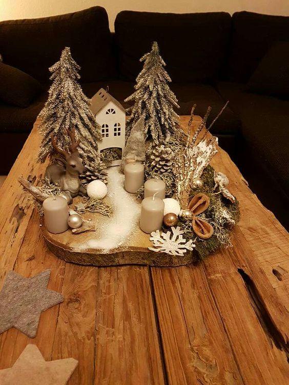 Świąteczne Dekoracje na Plastrach Drewna – Najpiękniejsze Stroiki na Drewnie